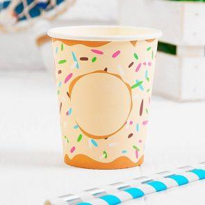 Стакан бумажный Пончик, набор 6 шт