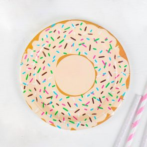 Тарелки бумажные Пончик, набор 6 шт