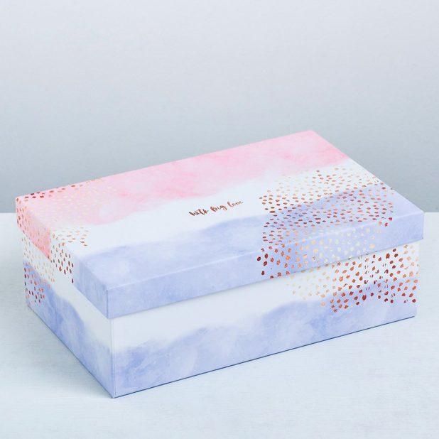 Коробка прямоугольная love, 27 x 17. 5 x 9. 5 см
