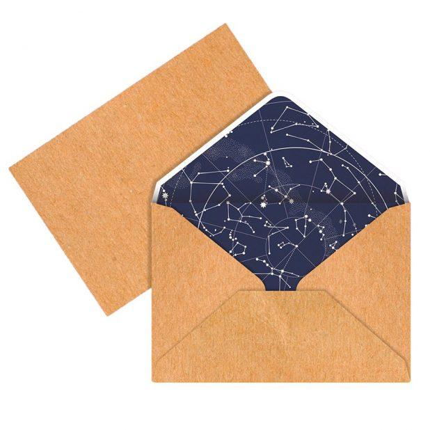Конверт для денег «созвездие», 16 × 11 см