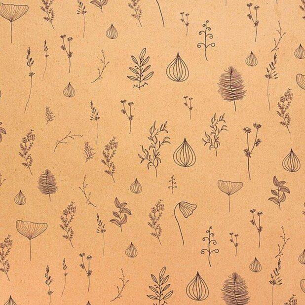 Бумага упаковочная крафт ботаника