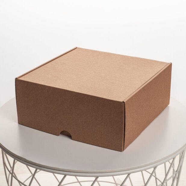 Крафт коробка 24 х 24 х 10 см