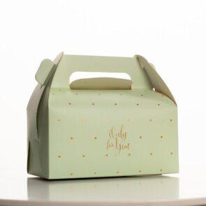 Сундук  Only for you, 16 × 15 × 9 см, зеленый в горошек