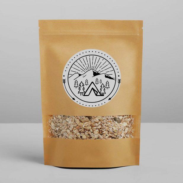 Пакет крафтовый без ручек с зип локом «в путешествие», 26 × 18 × 4 см
