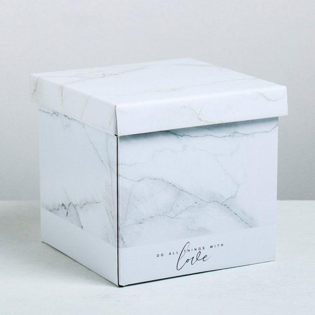 Складная коробка «текстурная», 20 × 20 × 20 см