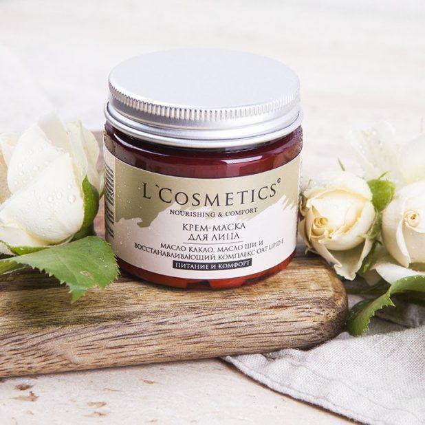 Lcosmetics крем маска для лица, питание и комфорт, 50мл