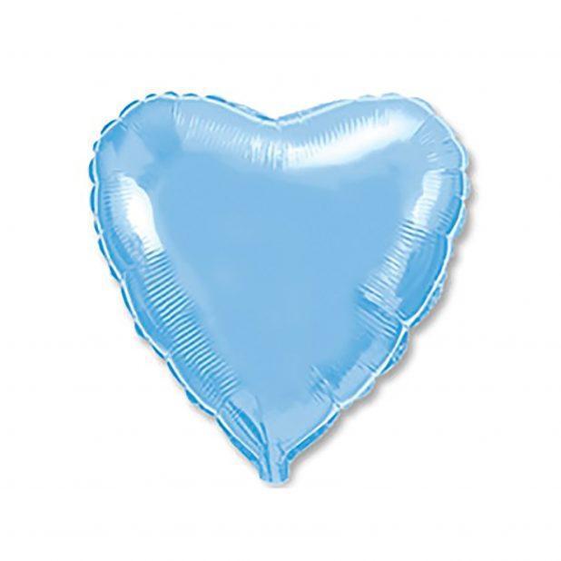 """Шар фольгированный 18"""", сердце, пастель blue"""