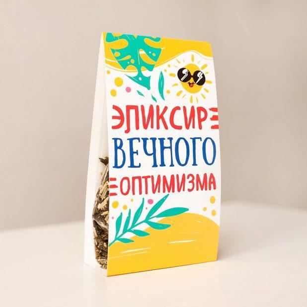 """Чай в треугольной обечайке """"эликсир вечного оптимизма"""""""