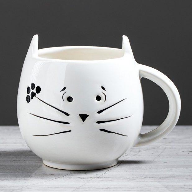 Кружка кот, цвет белый, 400 мл