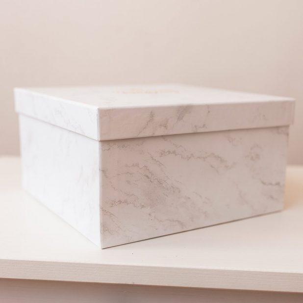 "Коробка ""мраморный"", 20 см"