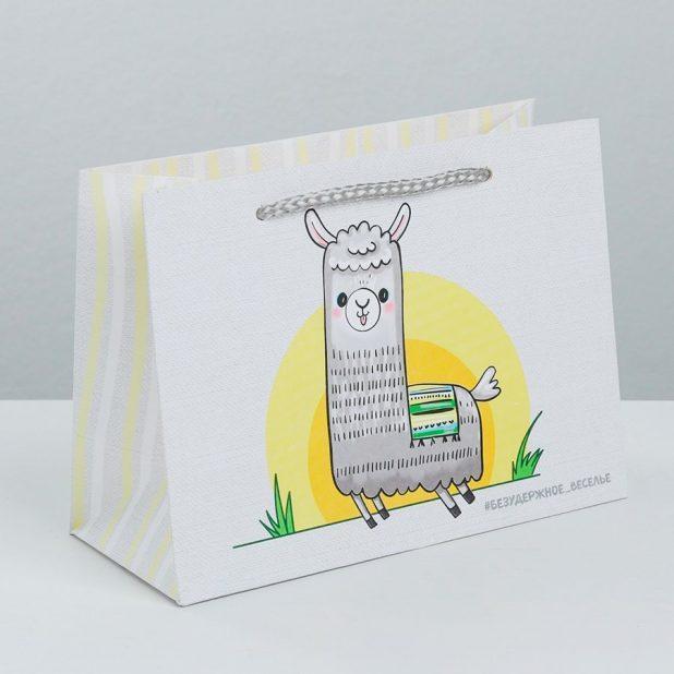 Пакет подарочный «веселье», 19,5 × 14,5 × 8,5 см