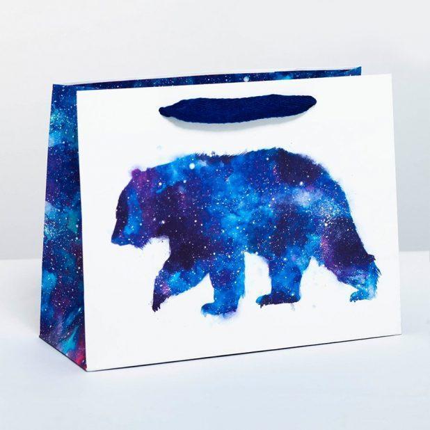 Пакет подарочный мишка, 23 x 18 х 10 см