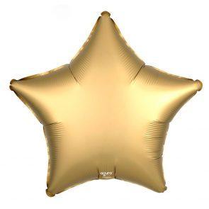"""Шар фольгированный 18"""" Agura Звезда, цвет сатин золото"""