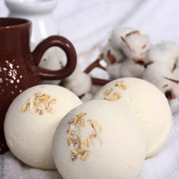 Lcosmetics бурлящий шарик с пеной козье молоко, 130 гр