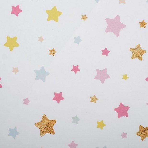 Бумага упаковочная звезды, 70 × 100 см