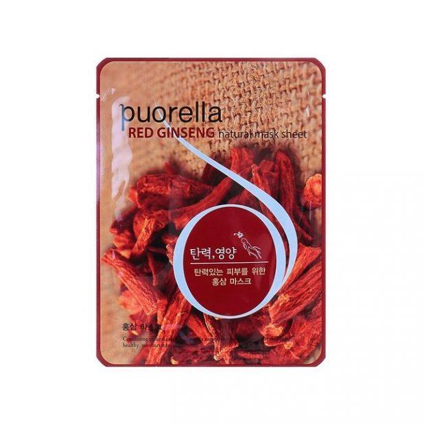 Маска для лица puorella с экстрактом красного женьшеня