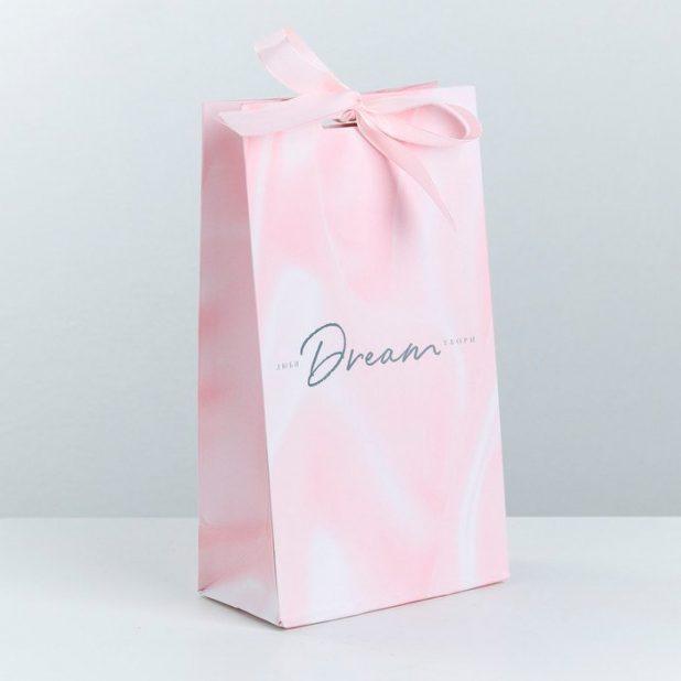 Пакет подарочный dream, 13 х 23 х 7 см