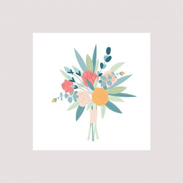 Поздравительная карточка , букет цветов