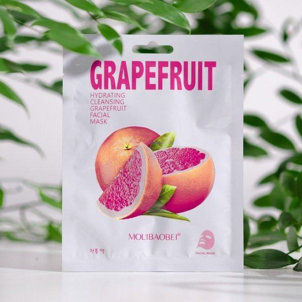 Маска тканевая для лица grapefruit, 25 мл