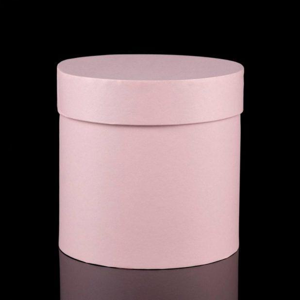 Коробка цилиндр пудра, 21 см
