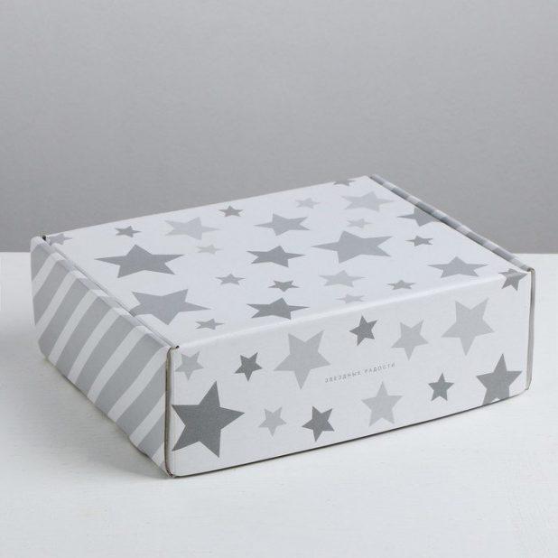 Складная коробка звёздные радости, 27 × 9 × 21 см