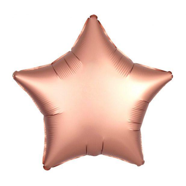 """Шар фольгированный 18"""" звезда, цвет розовое золото"""