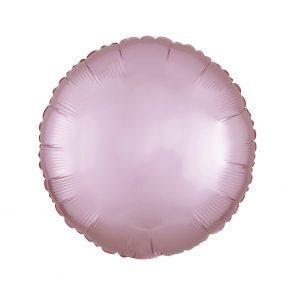 """Шар фольгированный 18"""" Agura Круг, сатин, розовый"""
