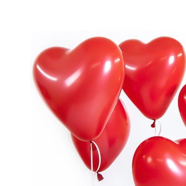 """Шар воздушный 12"""" don ballon форма сердца, цвет красный"""