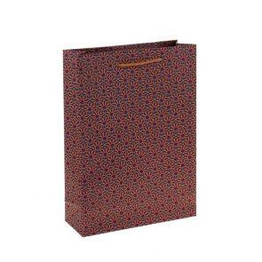 Пакет крафт Цветы, 12 х 15.5 х 5.5 см