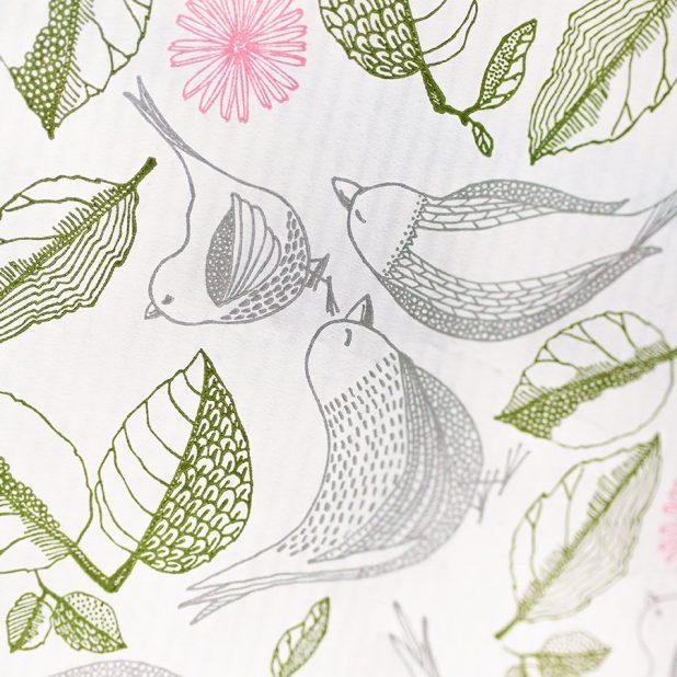 Бумага упаковочная птички