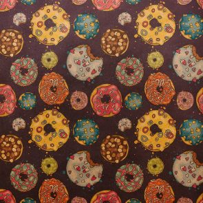 Бумага упаковочная Пончики