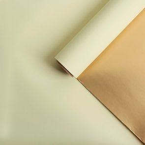 Бумага Золотая, двусторонняя, цвет золотой
