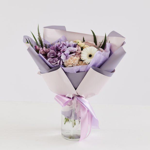 Фиолетовый букет микс