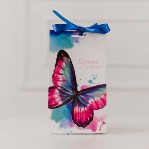 Пакет подарочный с лентой Хорошего настроения, 13 × 23 × 7 см