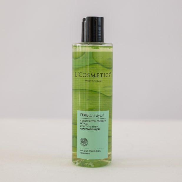 Lcosmetics fresh & splash гель для душа с экстрактом огурца и растительным плантафлюидом, 250 мл