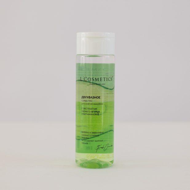 Lcosmetics fresh & splash средство для снятия макияжа с экстрактом огурца и с витамином е, 200 мл