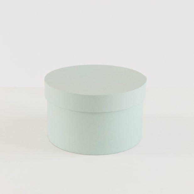 Шляпная коробка мята, 20 х 20 х 12. 5 см