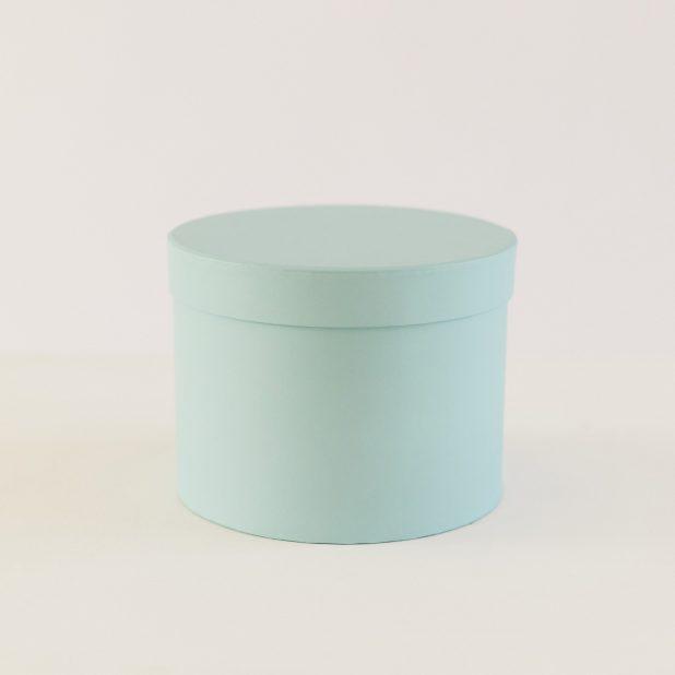 Шляпная коробка голубая, 20 х 20 х 15 см