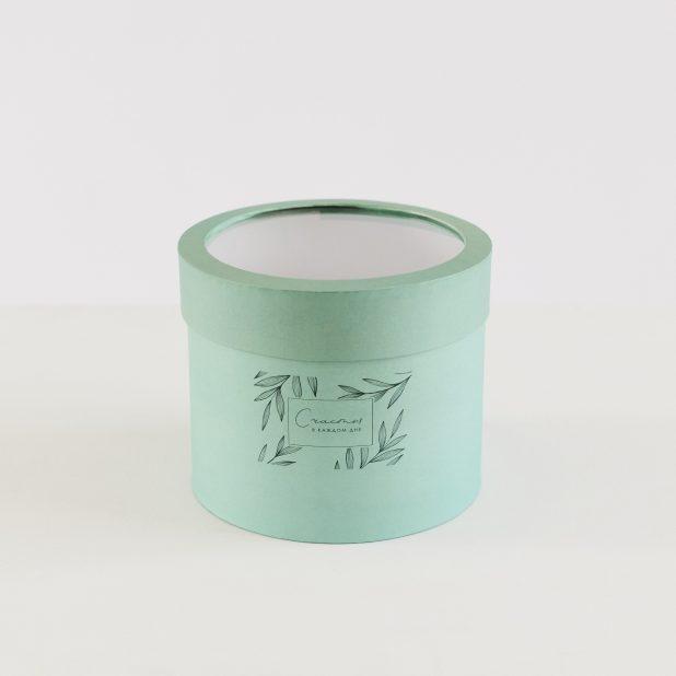 Шляпная коробка с pvc-окном нежность, 18 х 18 х 15 см
