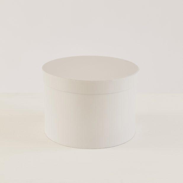 Шляпная коробка серо-белая, 23 х 23 х 16 см