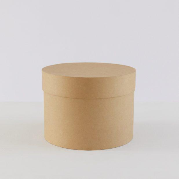 Шляпная коробка крафт, 20 х 20 х 15 см