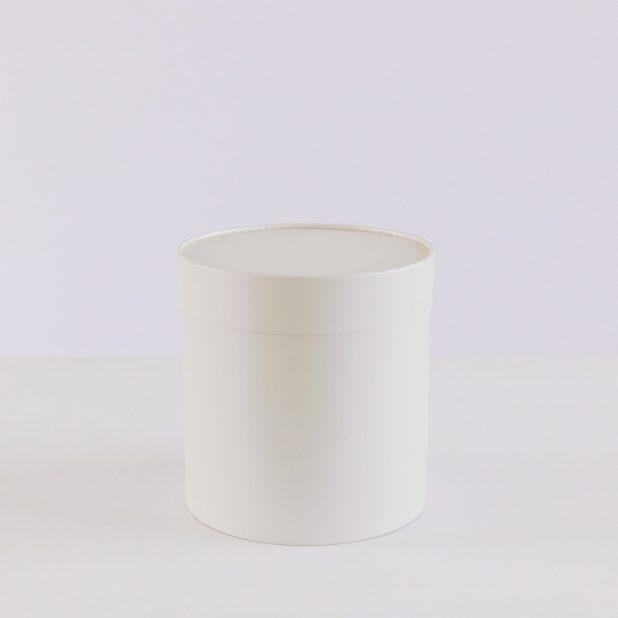 Шляпная коробка серебро, 18 х 18 см