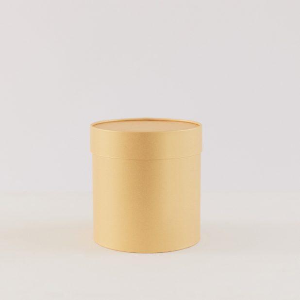 Шляпная коробка золото, 16 х 16 см