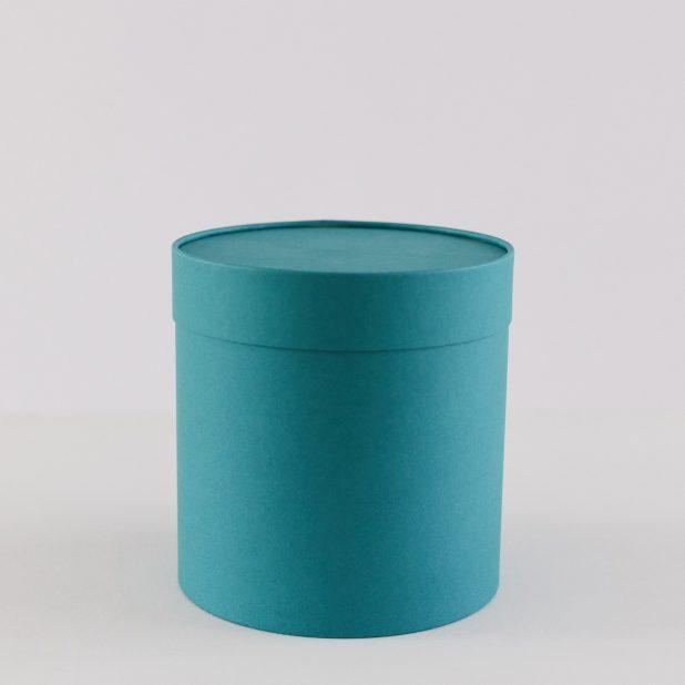 Шляпная коробка бирюза, 18 х 18 см