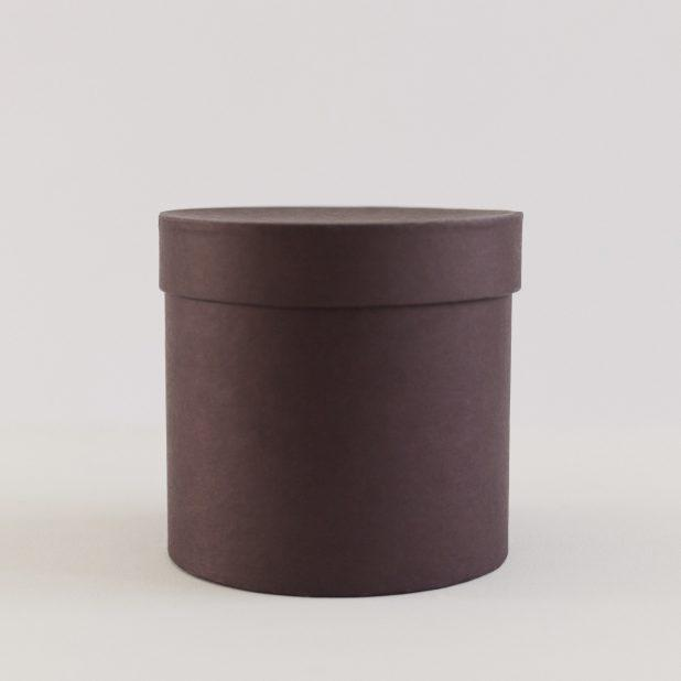 Шляпная коробка коричневая, 16 х 16 х 16 см